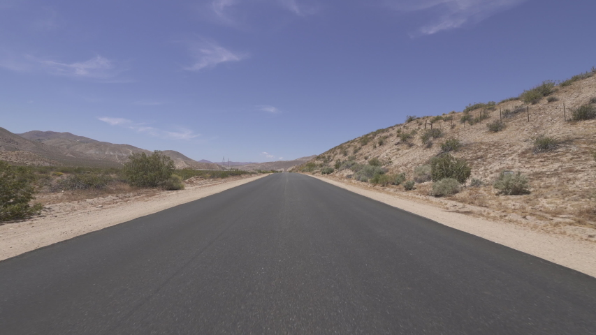 Driving Template Desert Road Mojave California Front View Time Lapse  | Shutterstock HD Video #1035269765