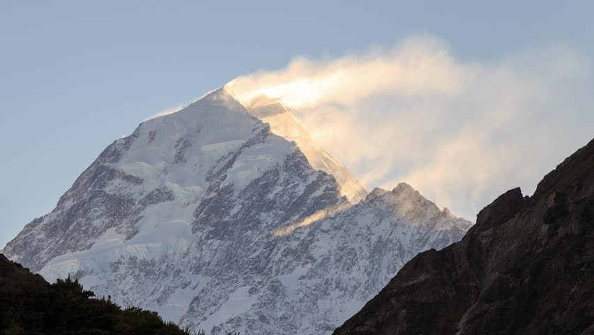 Banner cloud at the Aoraki Mount Cook, Mackenzie region, South island, New Zealand. #10354055