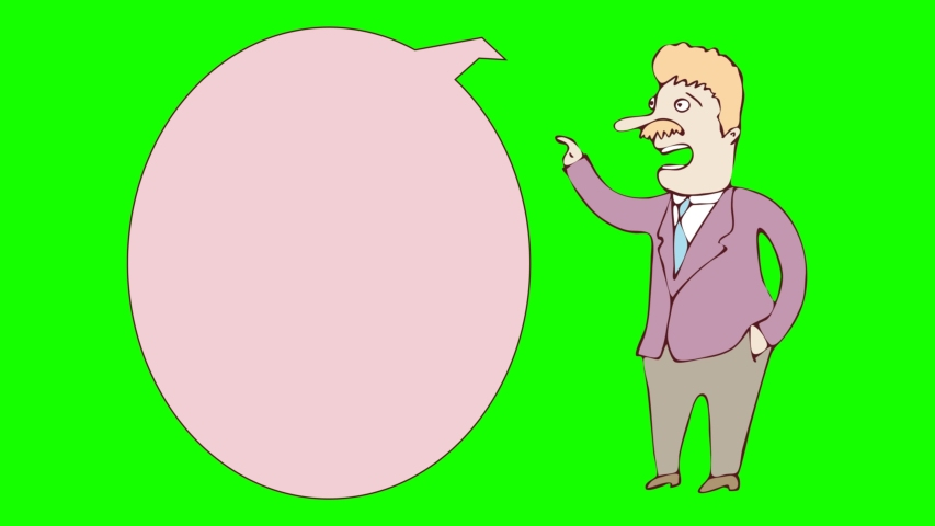 Digitally drawn illustration animated business man character . green screen 2 | Shutterstock HD Video #1035425045