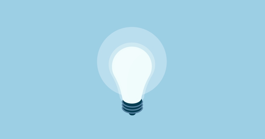 Energy salving lightbulb turning on and off, creativity and solution concept | Shutterstock HD Video #1035488675