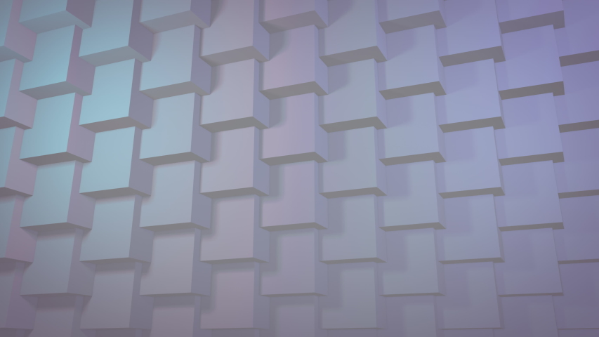 White clean 3D geometric pattern background for business presentation. Seamless texture loop.  | Shutterstock HD Video #1035774875