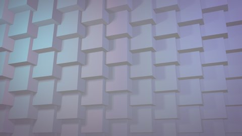 White clean 3D geometric pattern background for business presentation. Seamless texture loop.