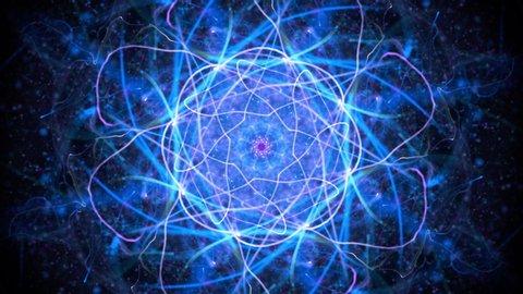 Video loop: the flower of life sacred geometry