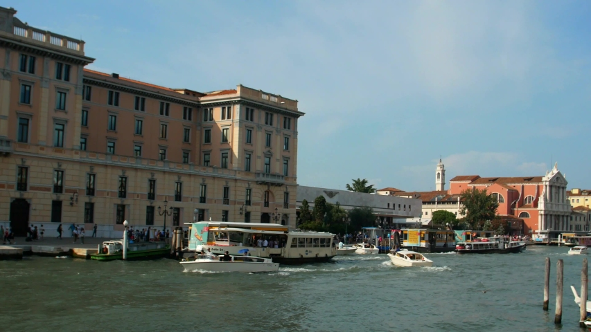 Venice, Italy. Canals with gondolas and boats. 4k video | Shutterstock HD Video #1035911075