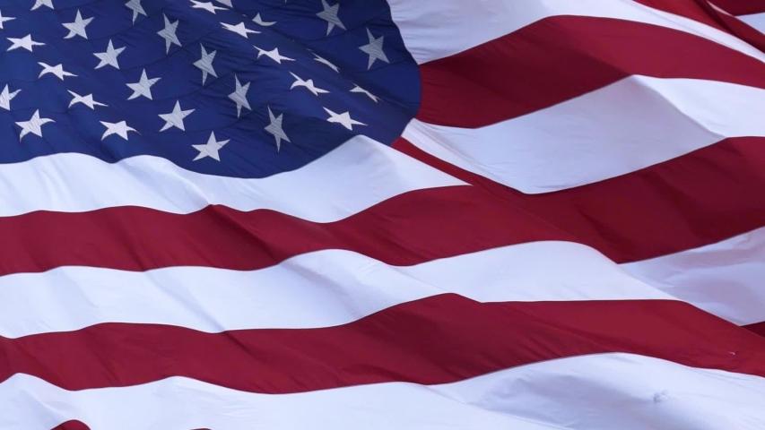 American Flag Waving - 120fps - Fill Frame
