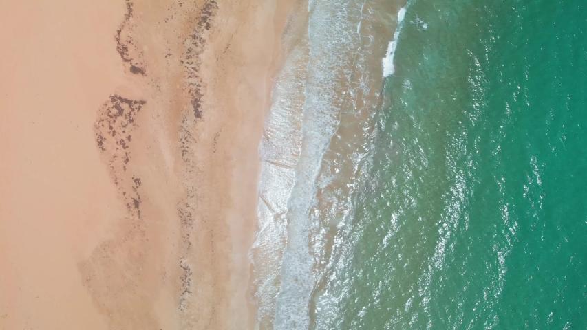 Birds eye aerial shot of beach in Puerto Rico - Steady 4k | Shutterstock HD Video #1036213175