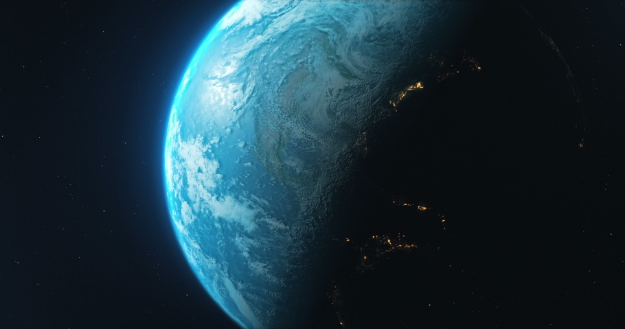 Earth Rotate. Rotating Earth In Deep Space. Earth Globe 4K. Round Planet In Deep Space. | Shutterstock HD Video #1036343285