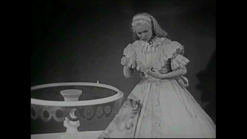 CIRCA 1950s - Scenes from a 1950s era stop motion and live action film of Alice and Wonderland.