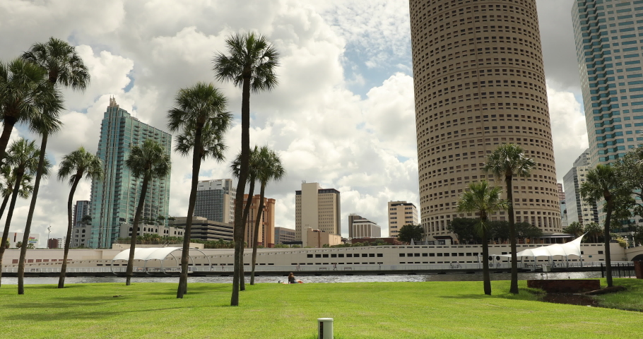 Downtown city skyline view of Tampa Florida USA