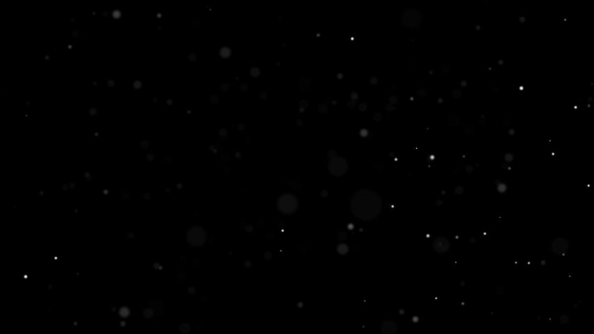 Dust Particles Background Bokeh Lights Background on Black Background 4k Footage Snow Particles Background
