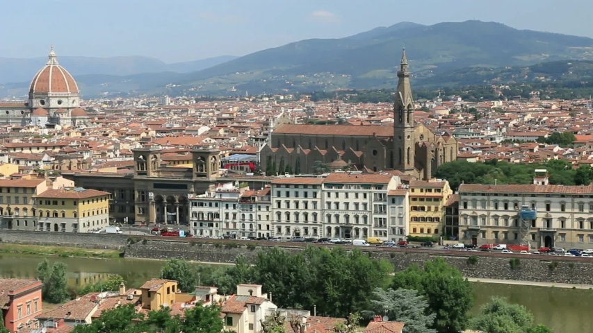 Panorama of the city of Florence .Tuscany .Italy | Shutterstock HD Video #1037177915