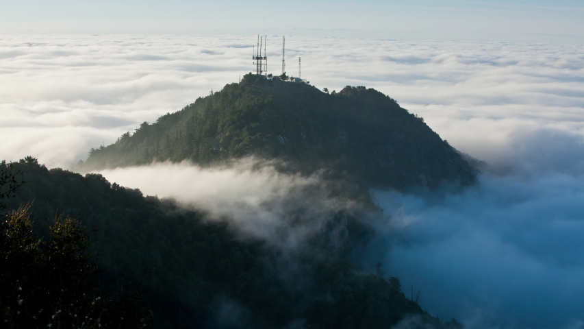 Time Lapse looking out over a fog covered Los Angeles | Shutterstock HD Video #1037183705