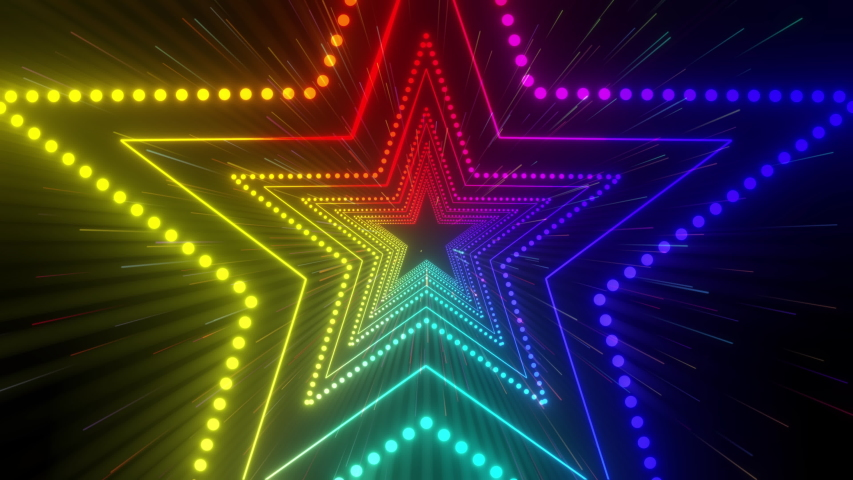 Disco Star rays dance music video  seamless background for show, events, video mapping, led screens, projections, festivals, awards events and holidays. | Shutterstock HD Video #1037265815