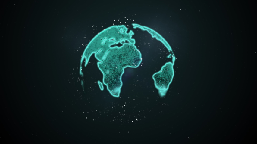 Cybersecurity, cyberattack and protection for worldwide connections. Abstract planet shifting on its axis, beaming the light. | Shutterstock HD Video #1037548415