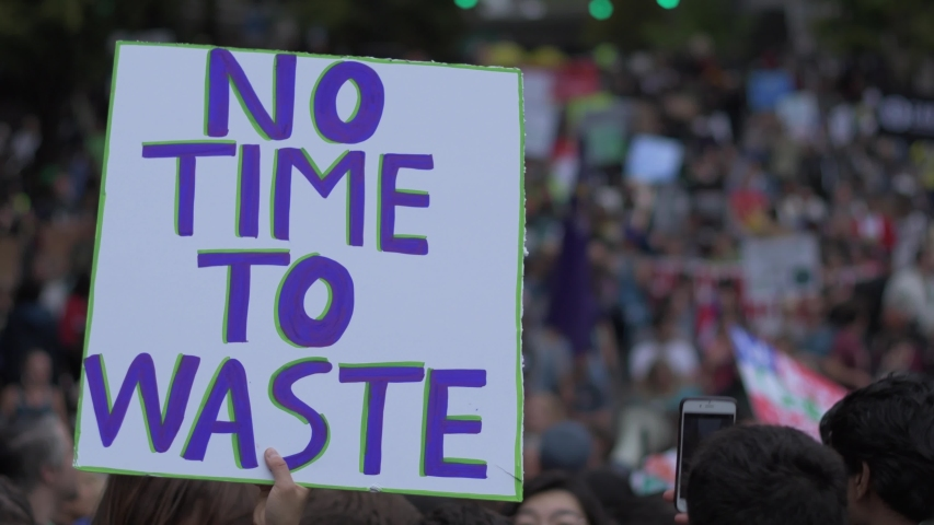 Seattle, Washington / United States - September 20 2019: People Protest at the Global Climate Strike
