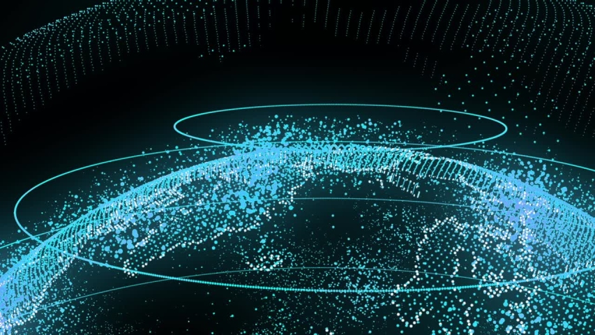 Earth Planet in Big Data Animation Digital planet seamless motion graphics background. exhibition and presentations about digital technologies.   Shutterstock HD Video #1037869805