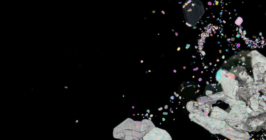 Timelapse of Potassium hydrogen tartrate crystallization under polarized light | Shutterstock HD Video #1038145265