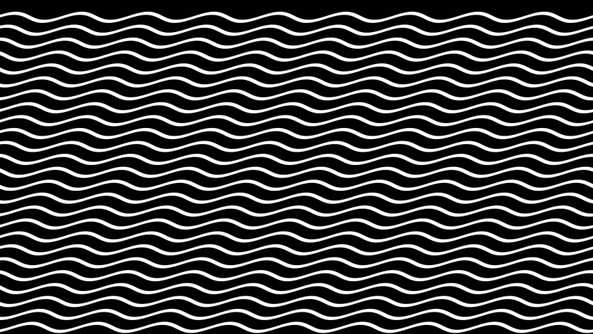 Black and white moving waves seamlessly looping animation with alpha channel in 4K for background or overlay | Shutterstock HD Video #1039041155