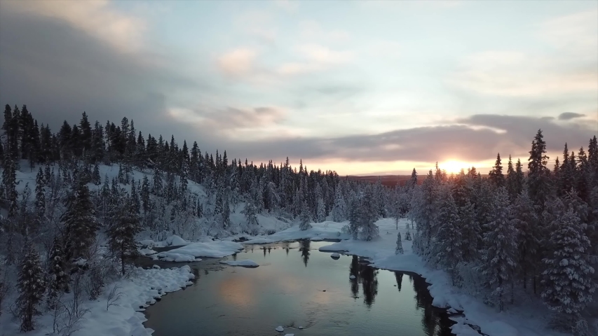 Abisko/Sweden video of the nature of Sweden ,taken by drone camera  | Shutterstock HD Video #1039386725
