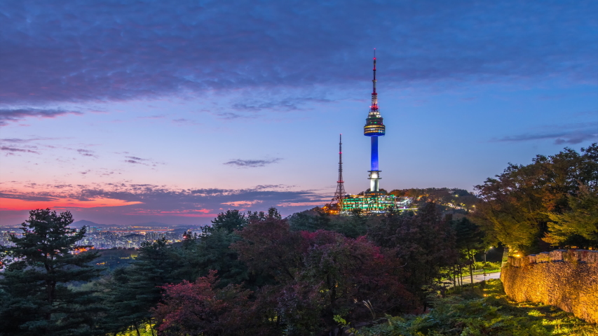 Time lapse: namsan mountain at night seoul city south korea | Shutterstock HD Video #1039531925