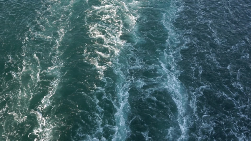 Wake in the ocean made by cruise liner #1039791845