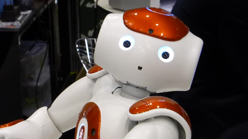 GDANSK, POLAND - JUNE 12 2015: Humanoid autonomous robot look