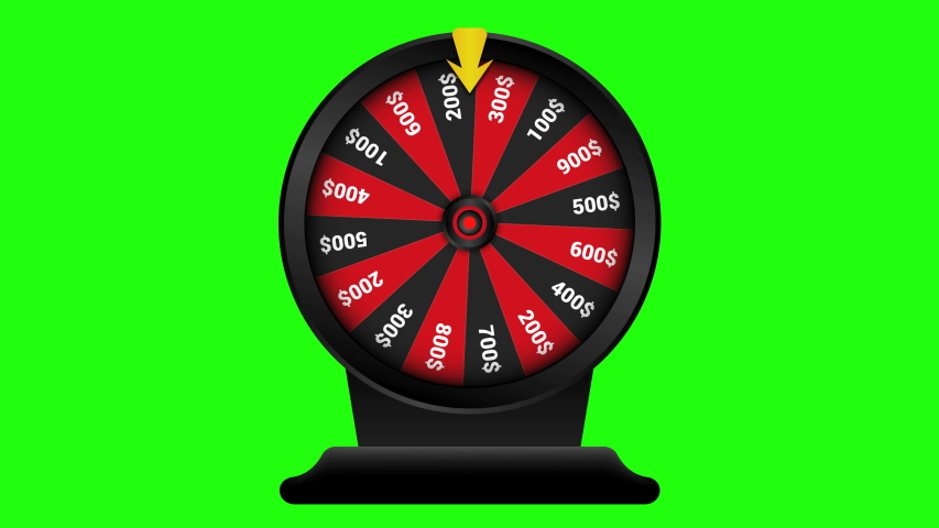 Realistic spinning fortune wheel animation, Casino online, lucky roulette.isolated on green background. 4K video | Shutterstock HD Video #1040310995