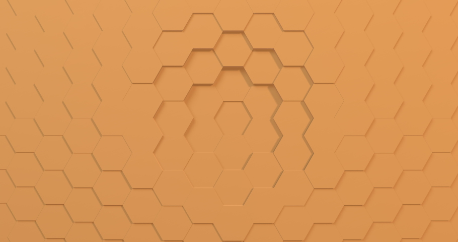 Bright yellow 3D animation of a seamless loop of hexagon beehive. Great background for trends or kids show. Projection mapping essential.  | Shutterstock HD Video #1040676725