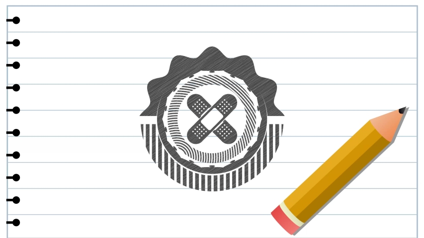 Crossed bandage plaster icon draw (pencil strokes). Vector Illustration. Detailed. rotary fashion, conceptual pattern, premium animation | Shutterstock HD Video #1040691755