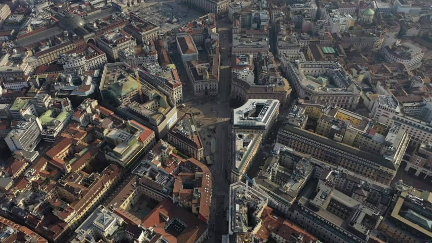 Milan Cathedral and city centre drone | Shutterstock HD Video #1040820185