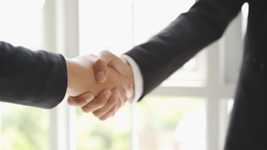 Slow motion Two Business hand shake  | Shutterstock HD Video #1040830955