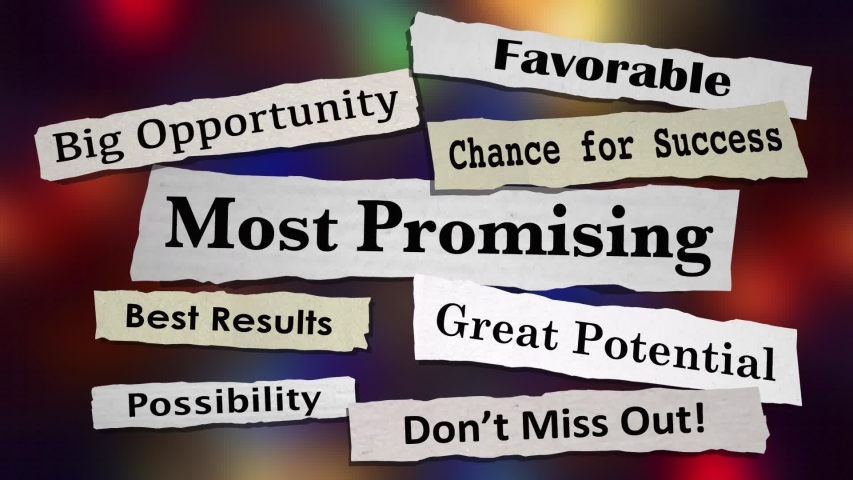 Most Promising Big Best Opportunity Potential Newspaper Headlines 3d Animation | Shutterstock HD Video #1040949335