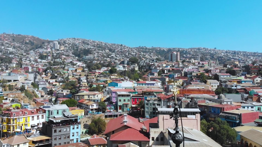 Hill Cerro Concepcion Colorful Houses cottages Valparaiso Chile | Shutterstock HD Video #1041121525
