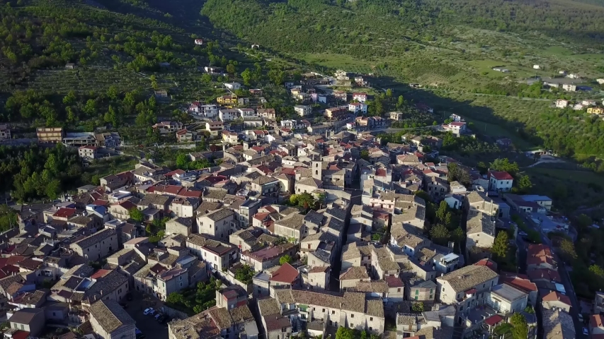 Frosinone/italy   Aerial video from Vico nel Lazio     taken by drone camera | Shutterstock HD Video #1041425365