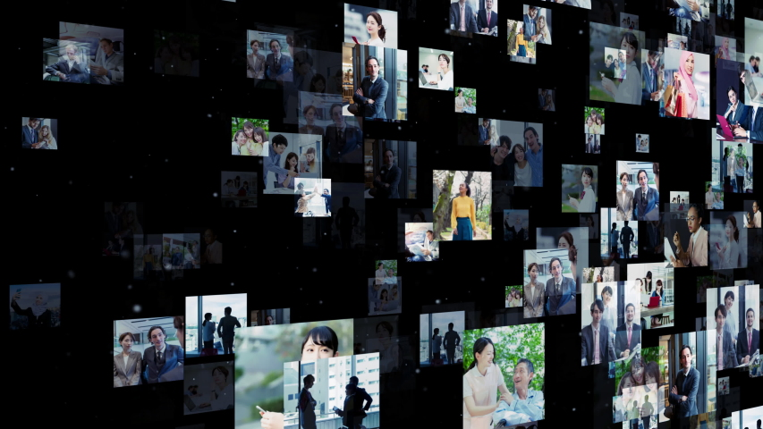 Social networking service concept. communication network. | Shutterstock HD Video #1041451075