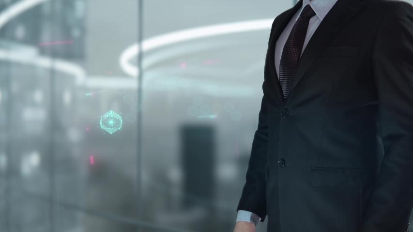 Businessman with NLP hologram concept hologram concept   Shutterstock HD Video #1041461515