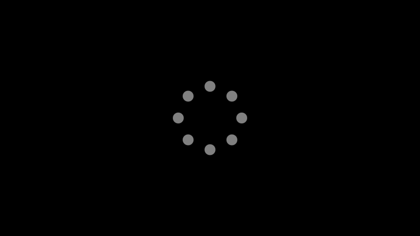 Simple constant loading circle dots modern intro opener transition buffer streaming animation template | Shutterstock HD Video #1041743125