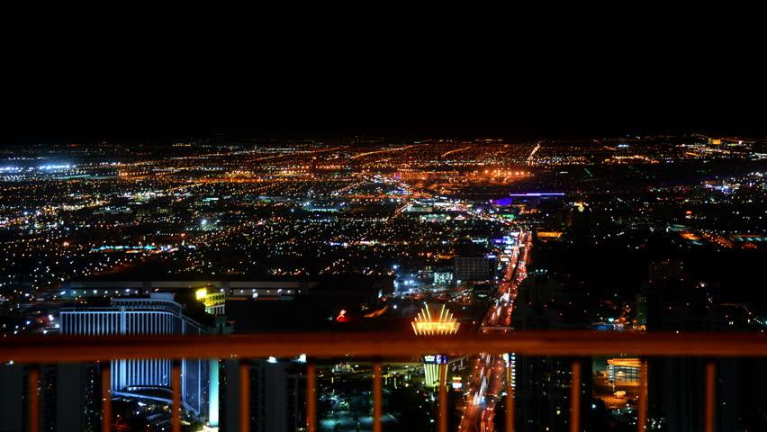 Las Vegas Timelapse Cityscape 50 Night | Shutterstock HD Video #10422407