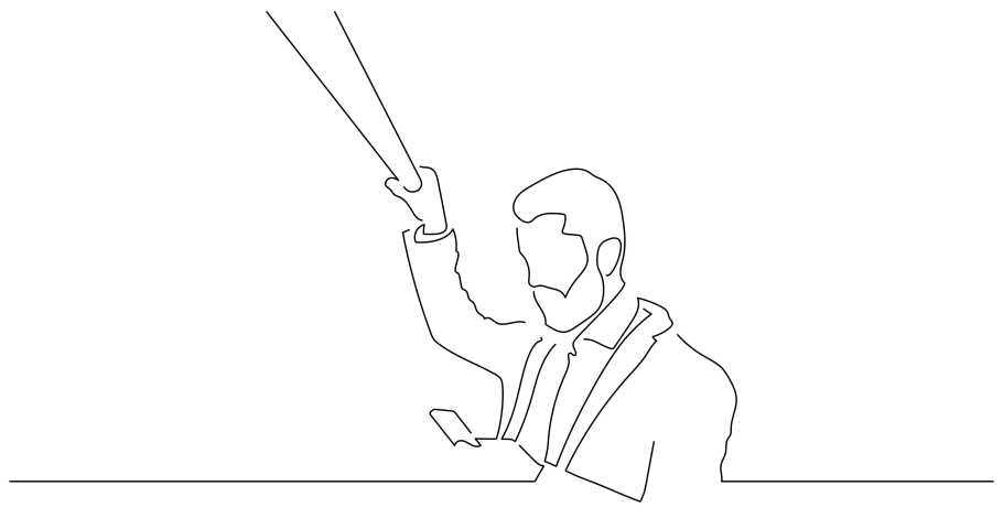Person on the subway isolated line drawing, vector illustration design. | Shutterstock HD Video #1042289185