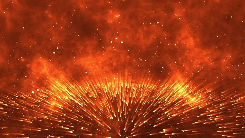 Abstract creative background. Hyper jump into another galaxy. Speed of light, neon glowing rays in motion. Beautiful fireworks, colorful explosion, big bang. Moving through stars. Seamless loop | Shutterstock HD Video #1042447255