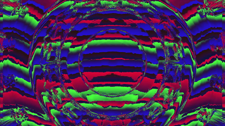 Bad tv imitation ornamental futuristic psychedelic iridescent background. Old tape effect. Surrealistic effect. | Shutterstock HD Video #1042523755