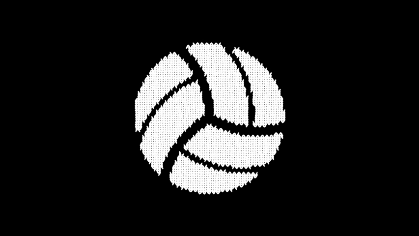 Symbol volleyball ball is knitted from a woolen thread. Knit like a sweater | Shutterstock HD Video #1042633615