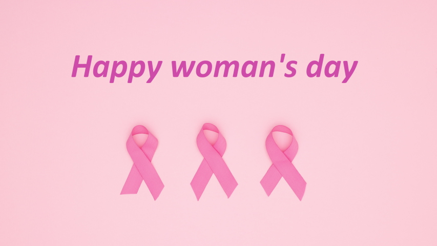 Happy woman's day title appear on pink background - Stop motion  | Shutterstock HD Video #1042647595