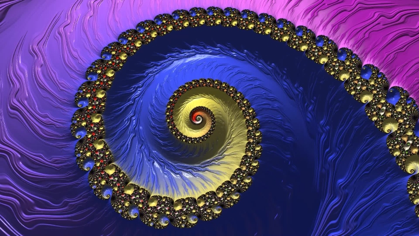 Color changing abstract spiral textured fractal pattern. Fantasy artwork for design. | Shutterstock HD Video #1042673725