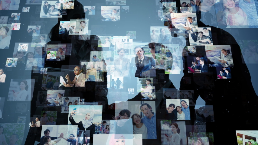 Global communication network concept. Social media. Worldwide business.   Shutterstock HD Video #1042778815