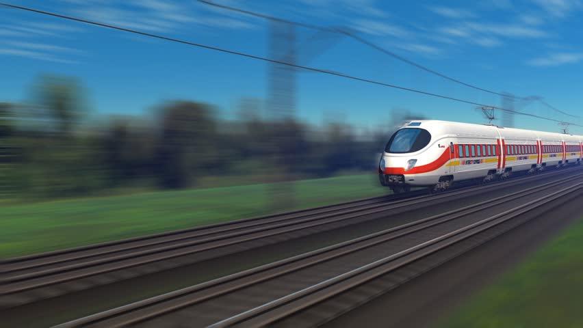 Modern high speed passenger train | Shutterstock HD Video #1042927