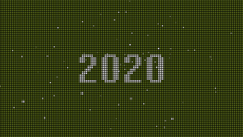 Year 2020 pixel art colorful background  | Shutterstock HD Video #1043776615