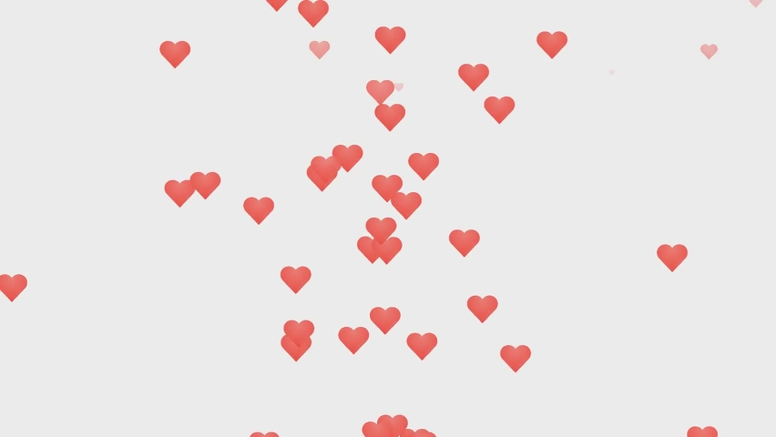 Loves with hearts red color in a flat style