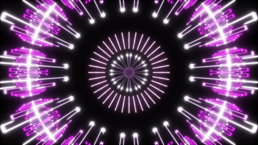 Motion purple lines and flashing light on black background, abstract object, loop | Shutterstock HD Video #1044578965