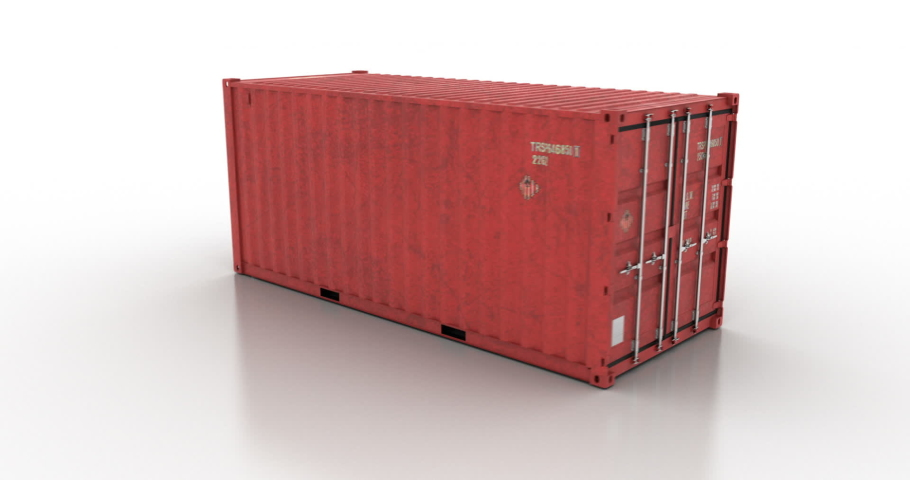Around cargo shipping container on white background   Shutterstock HD Video #1044851275